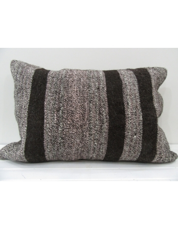 Gray Decorative vintage kilim pillow cover