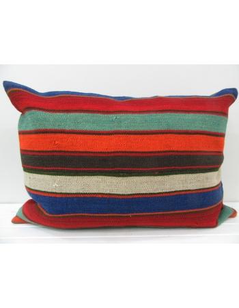 Colorful Handmade vintage Turkish kilim pillow