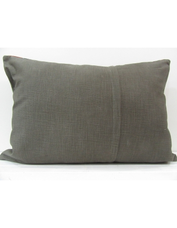 Gray Handmade decorative Turkish kilim pillow cover