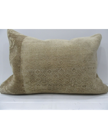 Handmade beige decorative pillow cover