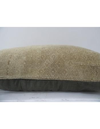 Handmade beige vintage Turkish pillow cover