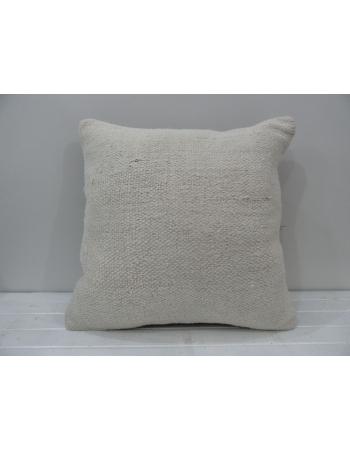 White vintage Turkish kilim pillow cover