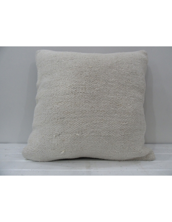 White handmade Turkish decorative pillow