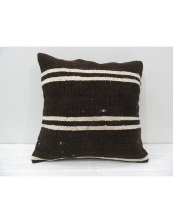 Brown handmade Turkish decorative pillow