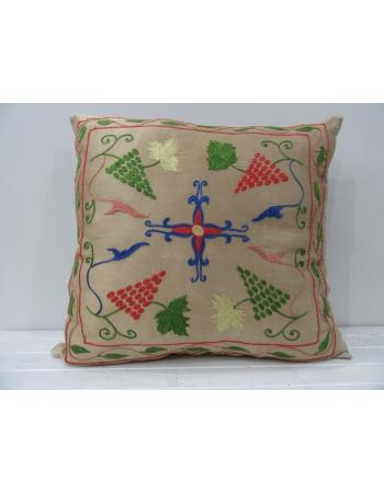 Silk embroidered cusion killim cover