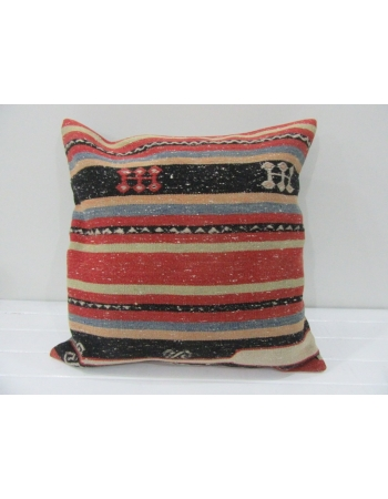 Handmade Vintage Striped kilim pilow