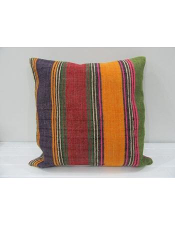 Striped Decorative Colorful Turkish kilim pillow cover