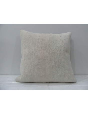 White handmade decorative pillow cover