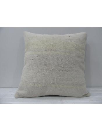 White decorative vintage pillow cover