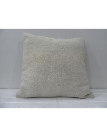 White handmade Turkish decorative pillow