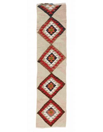 "Vintage Decorative Kilim Runner - 2`4"" x 8`0"""