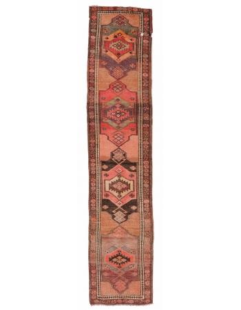 "Vintage Decorative Herki Runner Rug - 2`11"" x 12`2"""