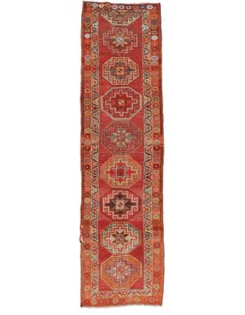 "1970's Decorative Herki Runner - 3`1"" x 11`3"""