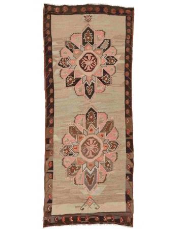 """Decorative Vintage Kars Kilim Rug - 4`10"""" x 9`6"""""""