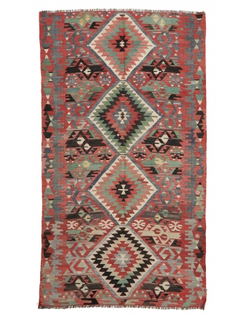 """Vintage Turkish Kilim Rug - 5`5"""" x 8`6"""""""