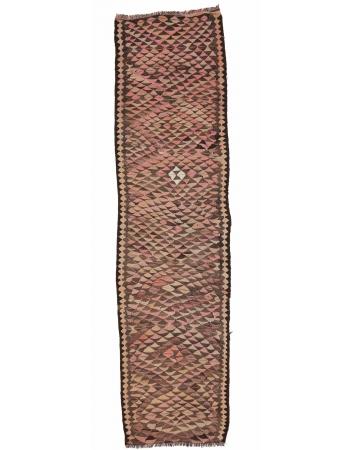 "Vintage Decorative Runner Rug - 3`3"" x 12`2"""