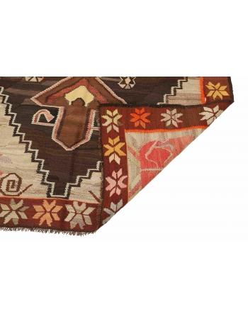 """Vintage Decorative Kars Kilim Rug - 5`9"""" x 10`3"""""""