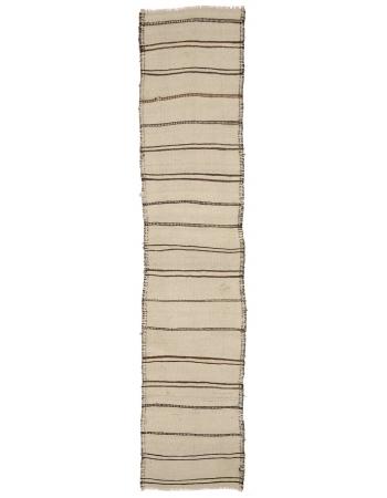 "Striped Vintage Modern Kilim Runner - 2`10"" x 12`10"""
