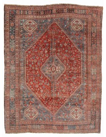 """Vintage Wool Shiraz Rug - 7`1"""" x 9`4"""""""