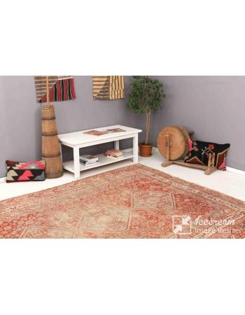 "Distressed Antique Shiraz Wool Rug - 7`0"" x 9`8"""