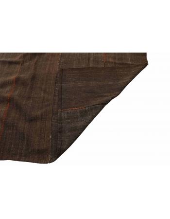 """Oversized Vintage Brown Tente Kilim Rug - 9`2"""" x 21`2"""""""