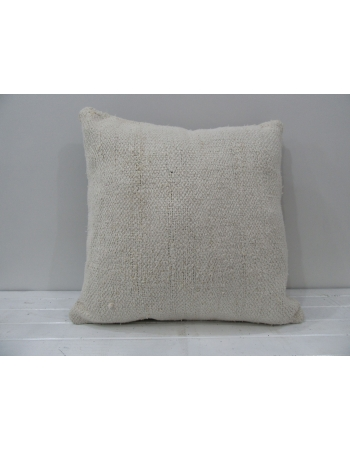 White handmade vintage Turkish pillow cover