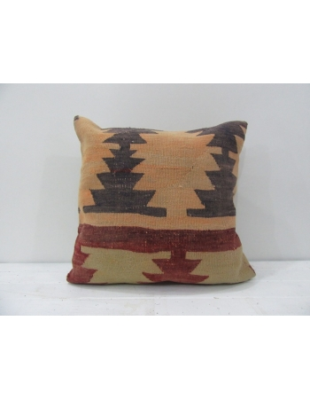 Vintage striped Turkish kilim pillow cover