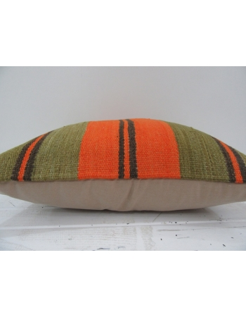 Handmade vintage striped kilim pillow cover