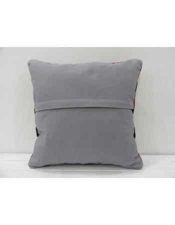 Vintage handmade black and beige striped Turkish kilim pillow cover