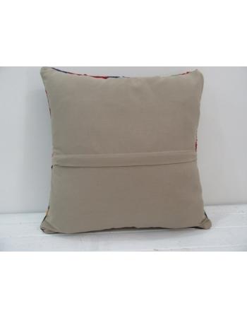 Vintage handmade geometric shapes Turkish kilim pillow cover