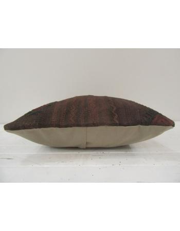 Handmade Brown Turkish kilim pillow cover