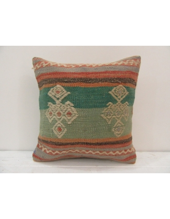 Handmade vintage Turkish kilim pillow cover