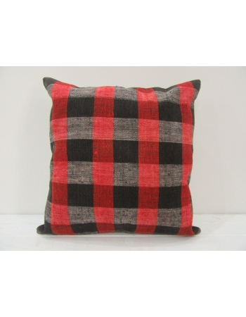 Vintage Red,Black and Gray Turkish Kilim Pillow cover
