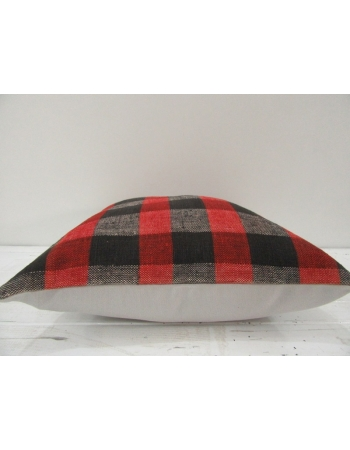 Vintage Red, black and gray Turkish Kilim Pillow cover