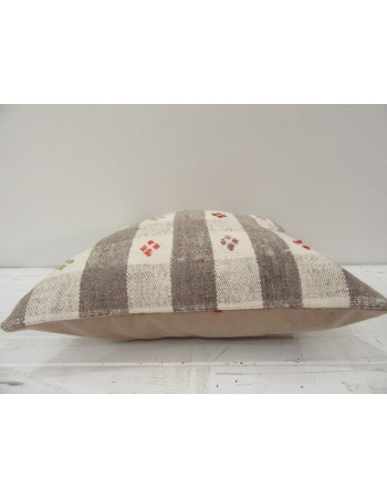 Vintage Beige and Gray Turkish Kilim Pillow cover