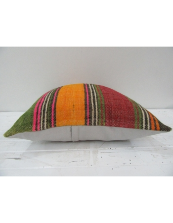 Vintage Handwoven Colorful Turkish Kilim Pillow cover
