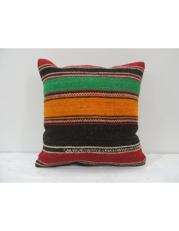 Vintage Handwoven Multicolor Turkish Kilim Pillow cover