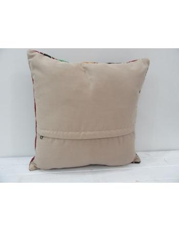 Vintage Handwoven Colorful Turkish Kilim Pillow cover
