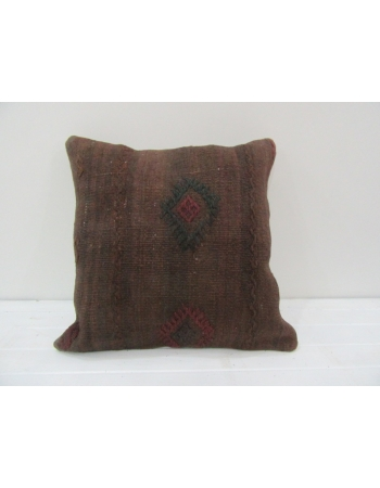 Vintage Brown Handwoven Turkish Kilim Pillow cover