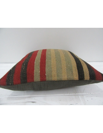 Vintage Handmade Colorful Striped Turkish Kilim Pillow cover