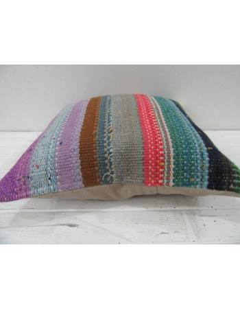 Vintage Handwoven Decorative Colorful Striped Turkish Kilim Pillow cover