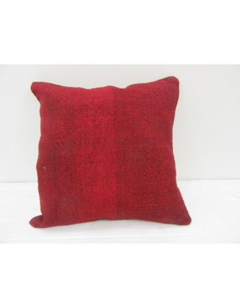 Vintage Handwoven Red Turkish Kilim Pillow cover