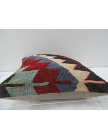 Vintage Handwoven Embroidered Decorative Multicolor Turkish Kilim pillow cover