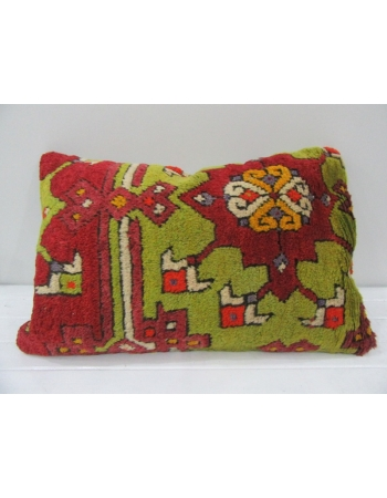 Vintage Handmade Red and Green Pillow Cushion Cover
