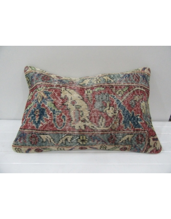 Vintage Handmade Distressed Floral Designed Pillow Cushion Cover