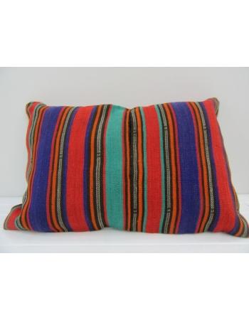 Vintage Handmade Colorful Striped Kilim Cushion Cover