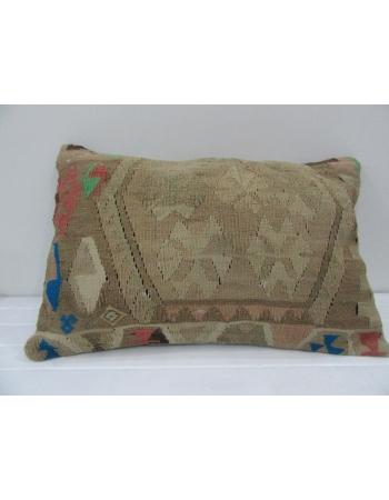 Vintage Handmade Beige Kilim Cushion Cover