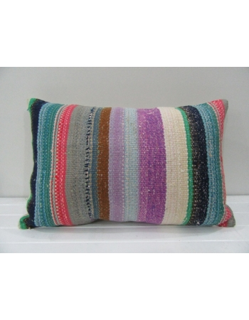 Vintage Handmade Colorful Striped Kilim Cushion Cover