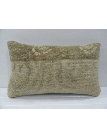 Vintage Handmade Beige Turkish Kilim Pillow cover