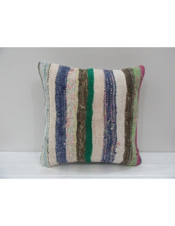 Vintage Handmade Multicolor Striped Turkish Kilim Pillow cover